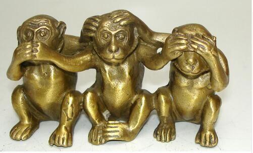 Коллекционирование латунь см говорить не слышу зла 3 обезьяна статуи большой