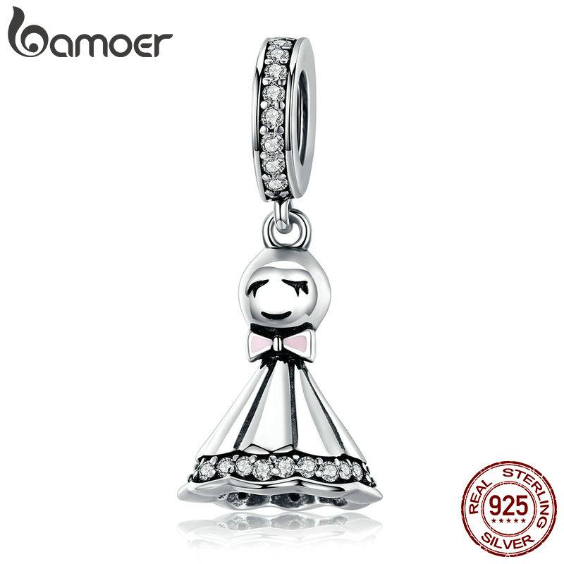 New Collection 925 Sterling Silver Sunny Dolls Pendant Charm fit Charm Bracelets & Chain Necklaces DIY Jewelry