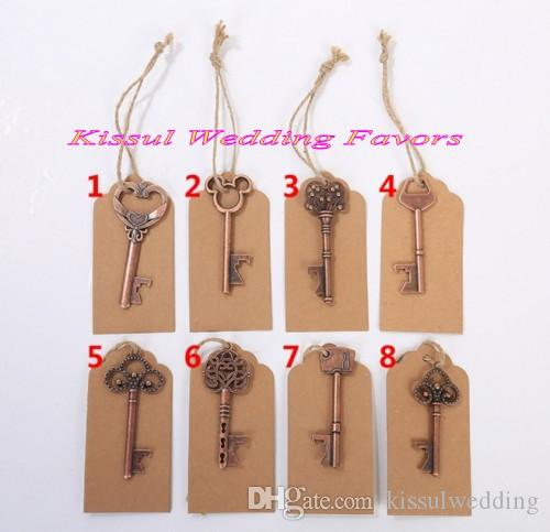 (30 Pieces/Lot) Promotion Wedding favors of Vintage Key Bottle Opener favors for guests and party favors several designs