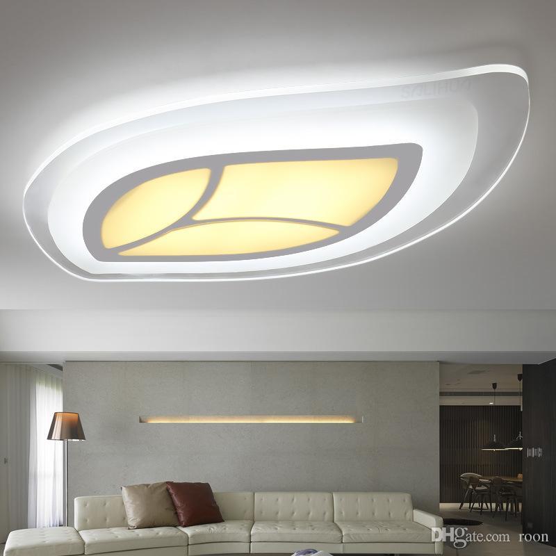 Luces de techo led modernas de control remoto para la sala de luz de la lámpara en forma de hoja lamparas de techo abajur-RNB22