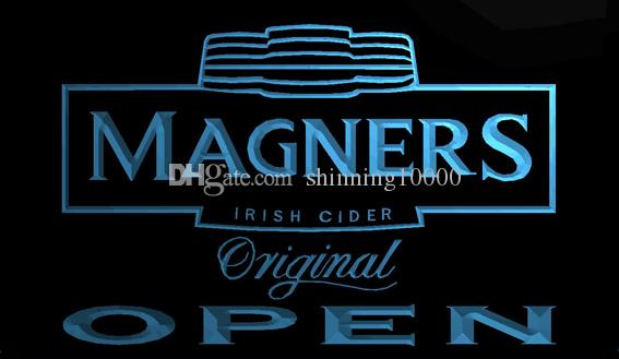 LS701-b-Magners Irish Cider OPEN Bar 3D LED Neon Light Sign Customize on Demand 8 colors to choose