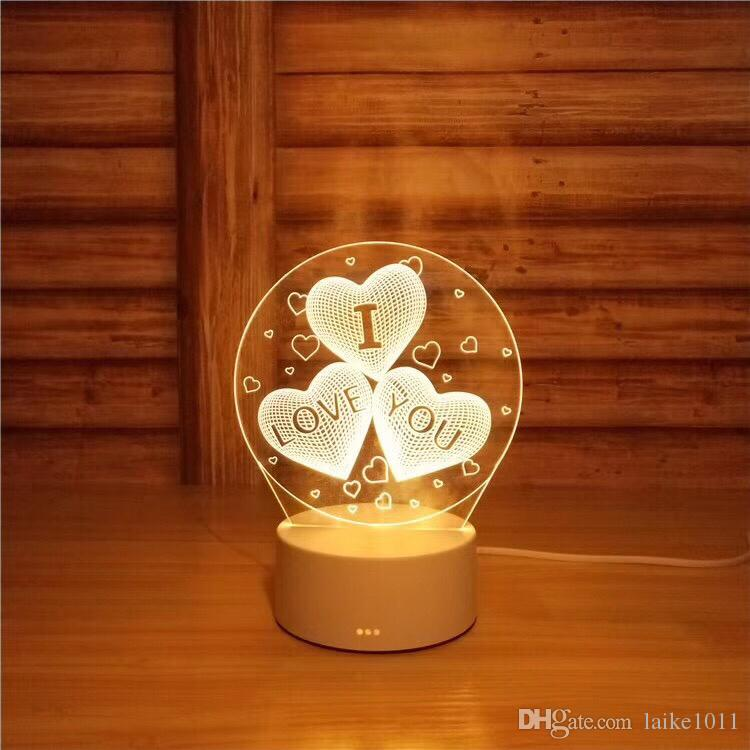 3D Small Desk Lamp Gift Lamp USB Touch Remote Control Originality Cozy Bedside Lamp New Pattern Ferris Wheel Small Night-light-5