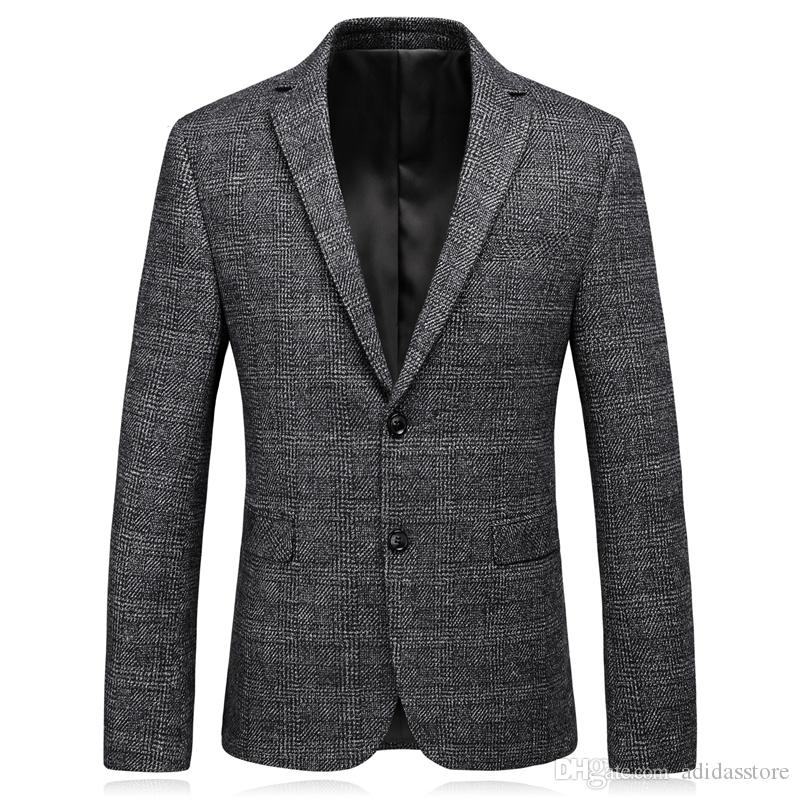 Veste Costume D/'homme Blazer Casual Manteau Hauts Slim Fit M-3XL 2020
