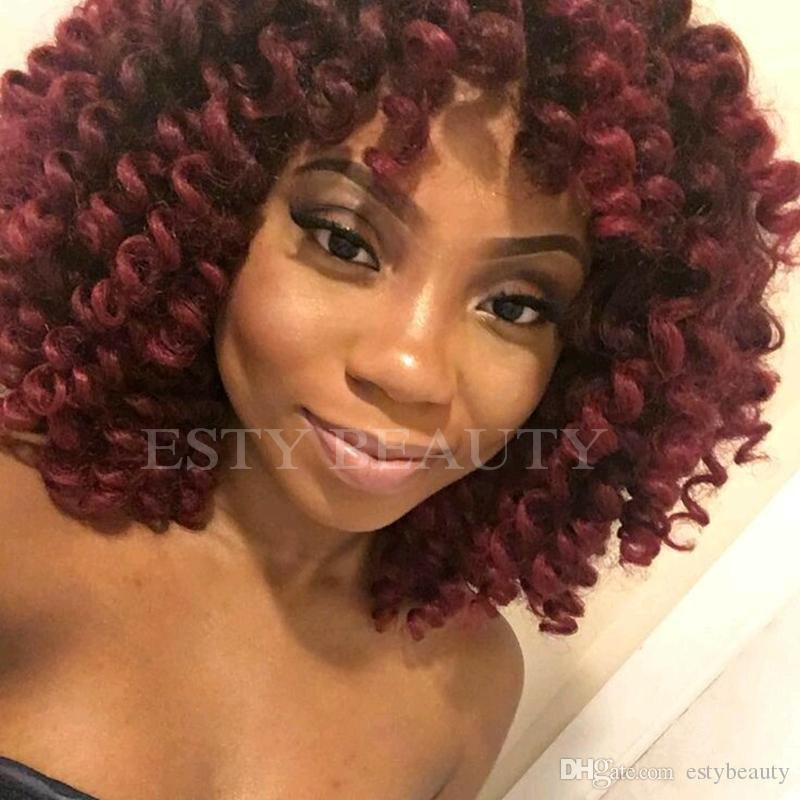 8 inch Ombre Jumpy Wand Curl Crochet Braids 22 Roots Jamaican Bounce Synthetic Crochet Hair Extension for Black Women