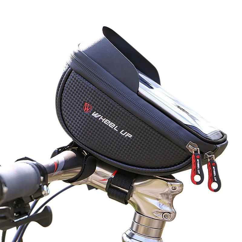 Suporte de Telefone celular bicicleta Bicicleta Bolsa À Prova D 'Água Ciclismo Sacos Saco Do Telefone Mtb Tubo Dianteiro Do Frame Bag Bag Cesta Da Bicicleta Acessório