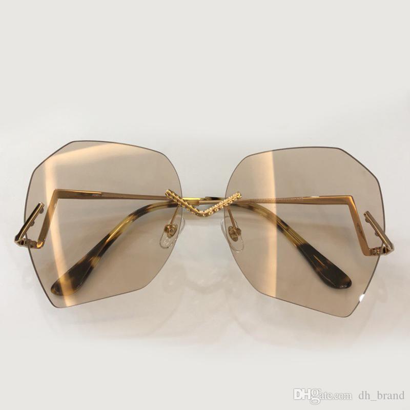 Alta Qualidade Sol óculos de Sol Shades Sun Óculos Gradientes de Marca Designer Orninais Moda UV400 Geometry Polígono AOIKL