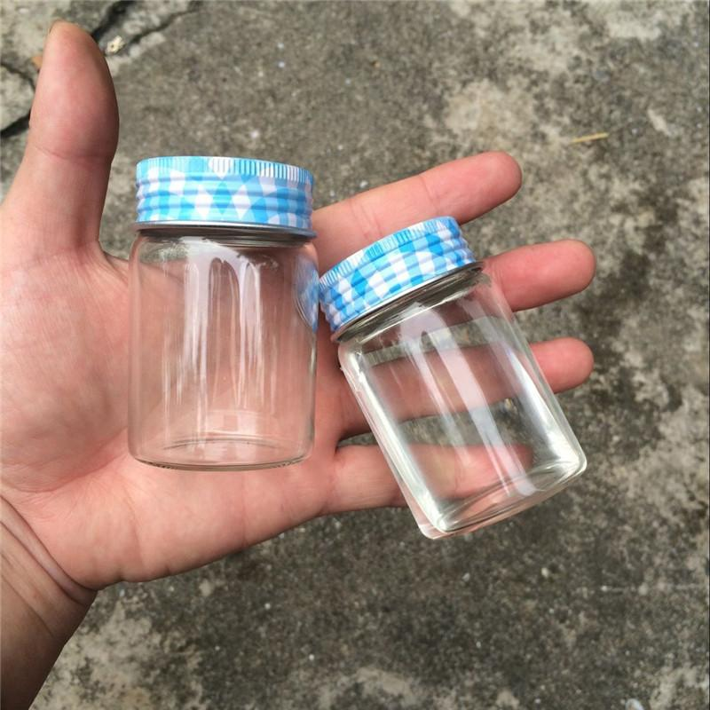 80ml Glass Bottle Silicone Stopper Aluminium Cap Leakproof Empty Jars Glass Transparent Bottles Containers 80ml