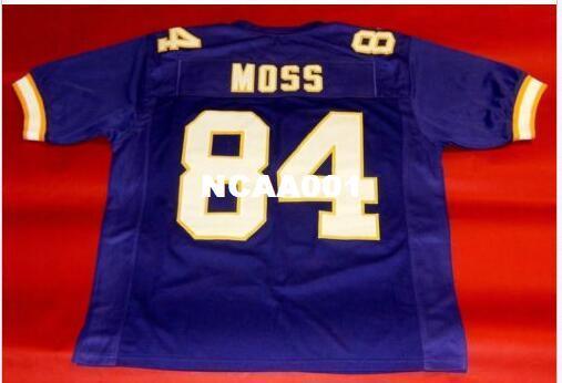Homens CUSTOM # 84 RANDY MOSS tamanho Jersey College s-4XL ou personalizado qualquer nome ou número jersey