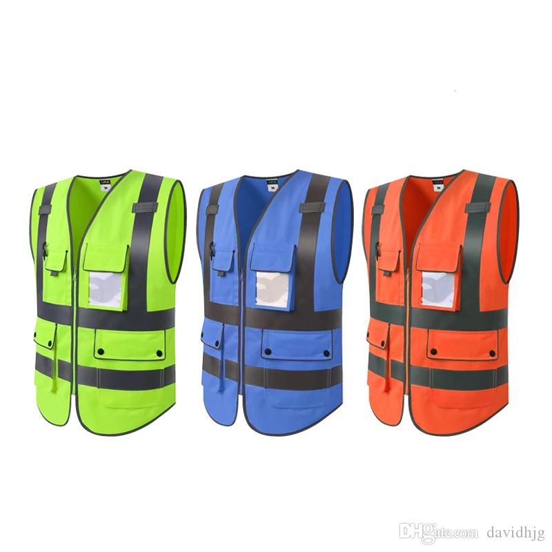 High Quality High Visibility Reflective Vest Working Clothes Motorcycle Cycling Sports Outdoor Reflective Safety Clothing #039