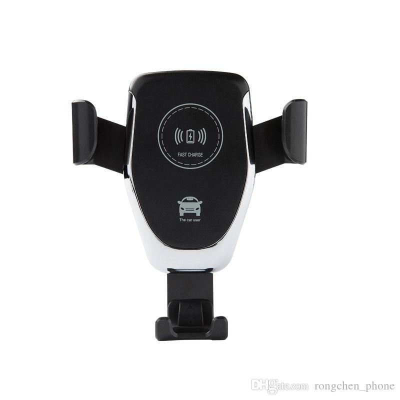Wireless Qi del supporto del caricatore per auto regolabile Gravity Air Vent Holder telefono per l'iPhone Samsung Nexus Moto OnePlus HTC Sony Nokia e Android 10w