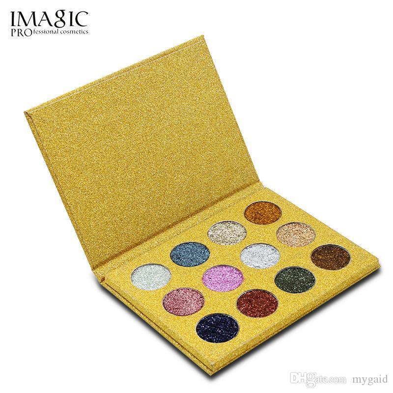 Imagic 12 ألوان حقن بريق مضغوط التألق عينيه الماس rainbow مستحضرات التجميل ظلال العيون لوحة المغناطيس