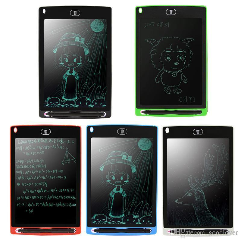 Tableta de escritura portátil de 8,5 pulgadas LCD Tableta de escritura electrónica Dibujo Tablero de la tableta de gráficos con Stylus Pen / CR2020 Batería