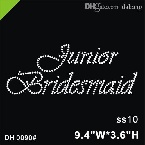 Free shipping Bridesmaid hot fix motif designs iron on transfer hot fix rhinestone motif rhinestones fix diyDH0090#