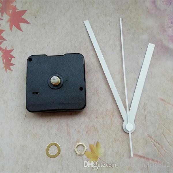 Großhandel 50 STÜCKE Sweep 12mm Kurze Welle Quarzuhr Movement Mechanism mit Weiß Metallzeiger DIY Zubehör