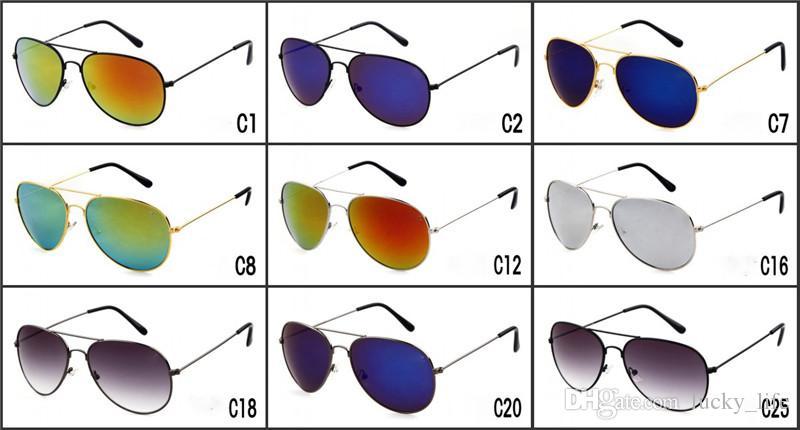 2018 Hot excelente qualidade piloto óculos de sol armação de metal moda masculina e feminina marca nome óculos de sol