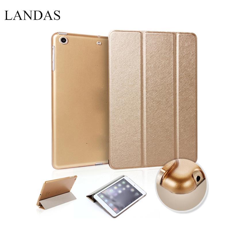 IPad Hava 2 için Landas PU Deri uyandırma Uyku Kapak Kenar Standı ile iPad 6 için Kılıf Otomatik Uyku Akıllı Kılıf iPad Hava 2 için Kapak