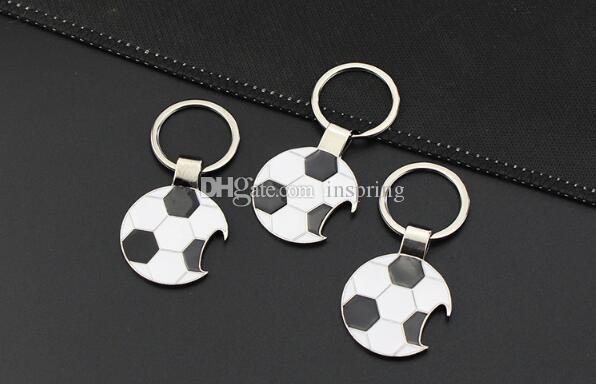 Football Bottle Opener Key Keychain 2018 World Cup Metal Aolly Key Chain Football Key Chains