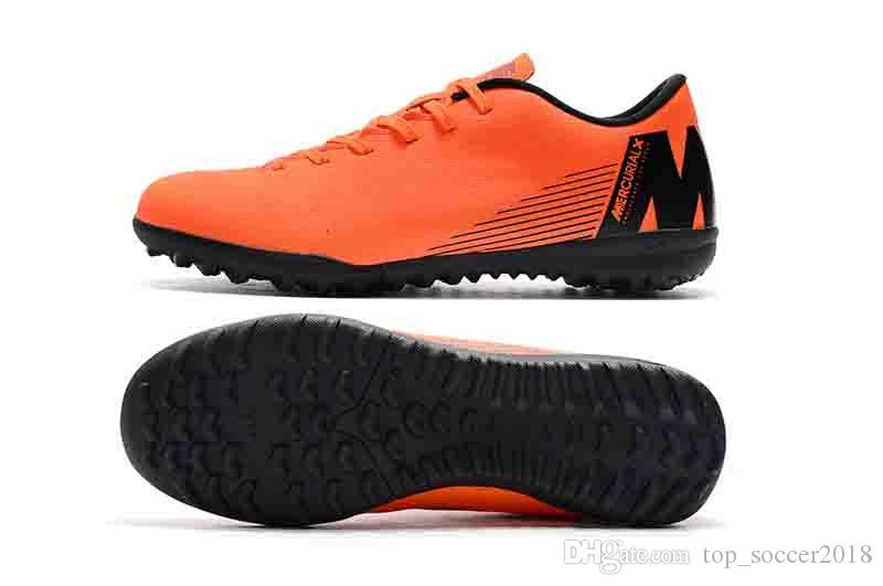 best quality cheap mens turf soccer cleats indoor soccer shoes low top VAPORX 12CLUB IN TF football boots new arrival
