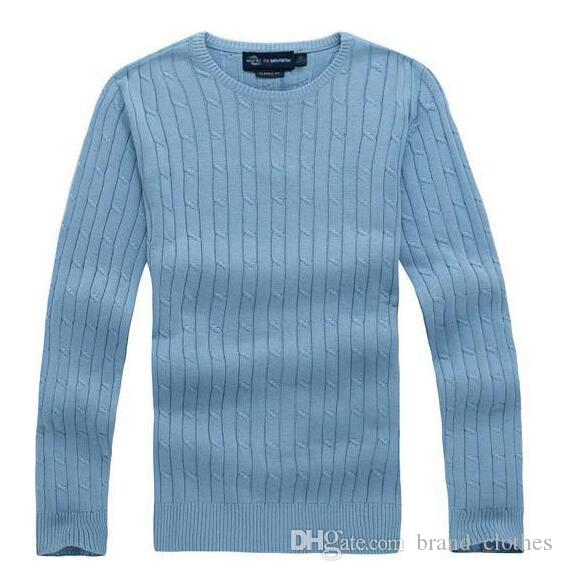 Free shipping 2018 new high quality mile wile polo brand men's twist sweater knit cotton sweater jumper pullover sweater men
