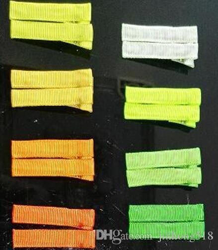 """Sıcak pretty 50 adet 1.8 """"DIY saç Aksesuarı klipleri Bebek kız Şerit Saç Yaylar Klip Şerit Kaplı Timsah Saç Klipler 30 renkler bobby pin"""
