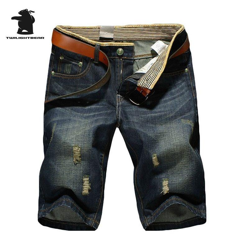 Brand Men's Denim Shorts Summer Fashion Designer Ripped Jeans Plus Size Casual Middle Pants For Men Beach Shorts BGK89