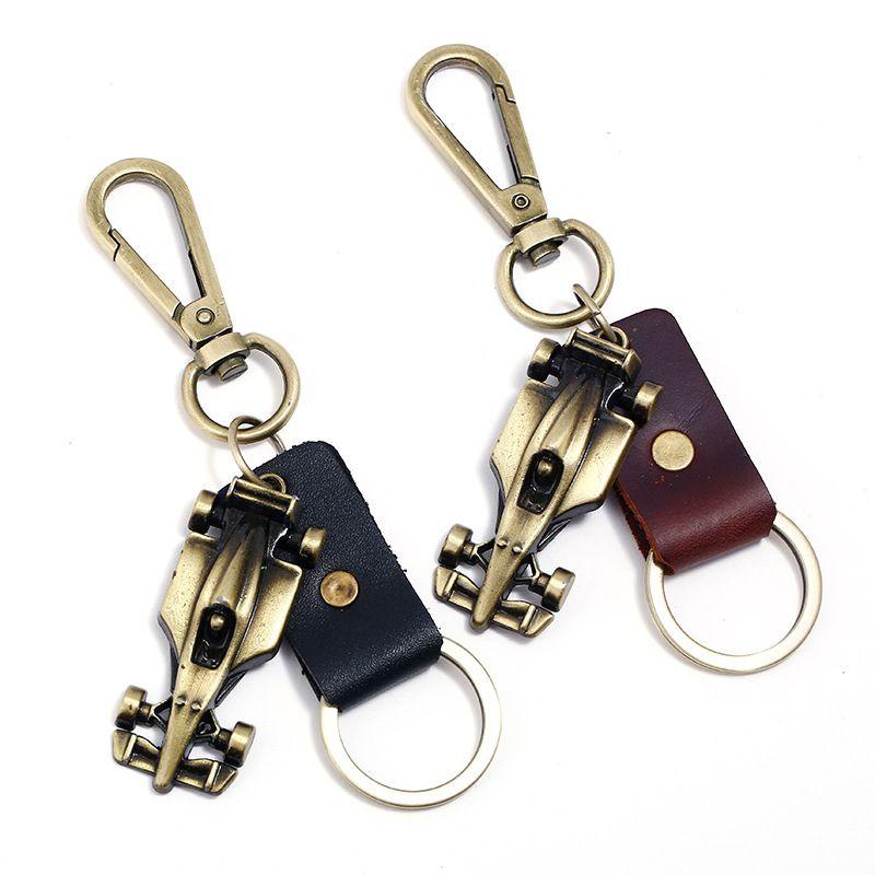 Stopowy Wyścigowy Key Holder Oryginalny Skórzany Pas trzyma wiele klawiszy Fajne breloczki dla mężczyzn kobiet