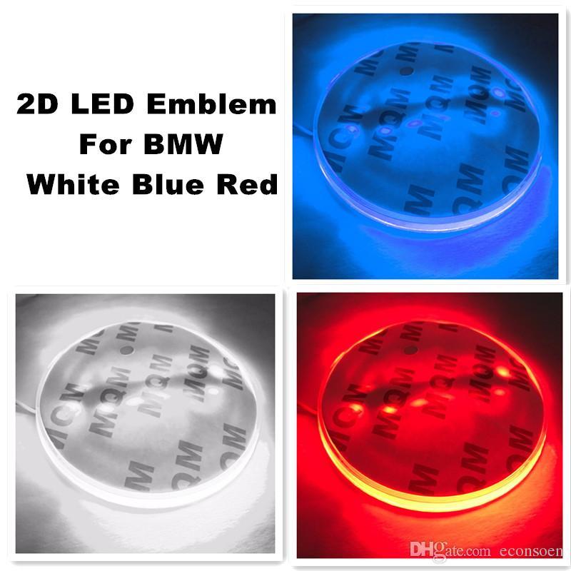 2D Car Led Sticker Logo Badge Emblem Light Lamp 12V White Red Blue Color ForBMW