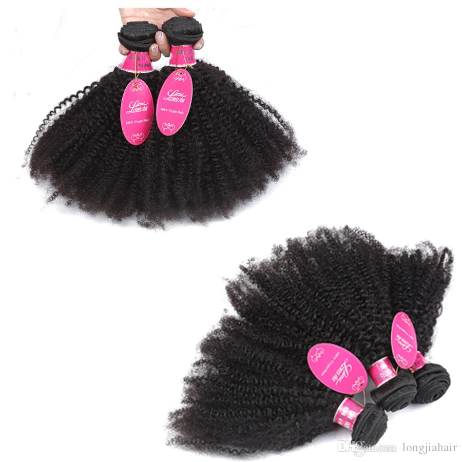 Unprocessed 8A Peruvian Human Hair Afro Curly 3 Bundles /lot Peruvina Kinky Curly Weave African American Afro Kinky Curly Human Hair