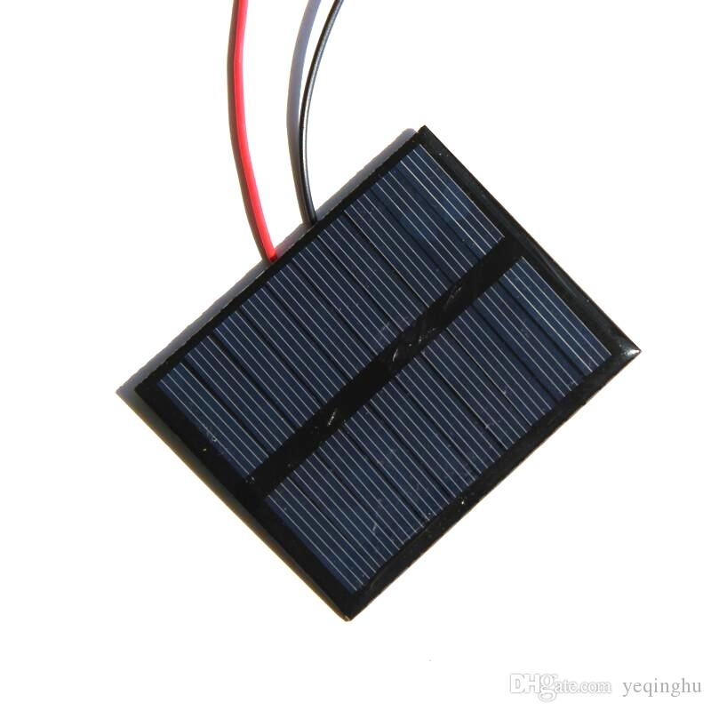 BUHESHUI 5V 0.5W Epoxy Solar Cell+Cable Small Solar Panel Power 3.7V Battery Charger System Solar Led Light Study 72*58MM 10pcs