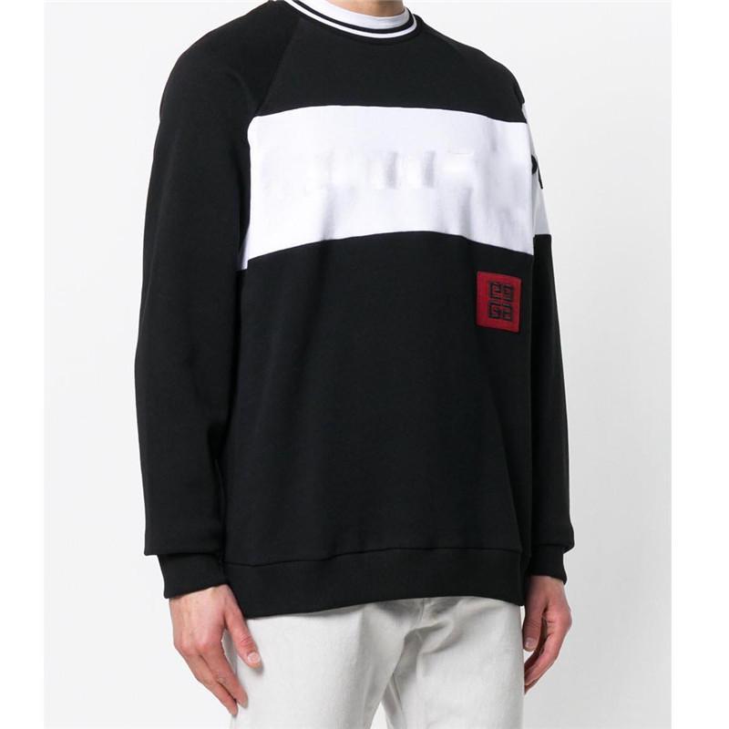 Erkek Hoodies Tişörtü Marka Kazak Tişörtü Marka Erkek Kazak Uzun Kollu Mektup Nakış Moda Giyim M-3XL