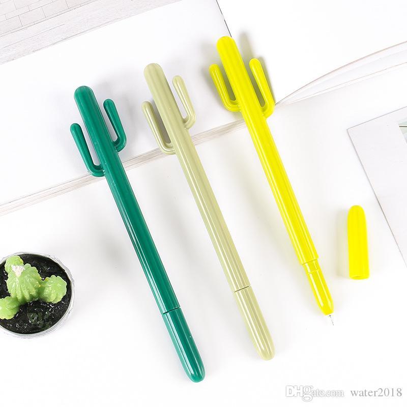 Désert créatif petits frais Cactus Styling Pen Corée du Sud Stationery Cute Cartoon Pen Gel étudiant Prix Gratuit DHL
