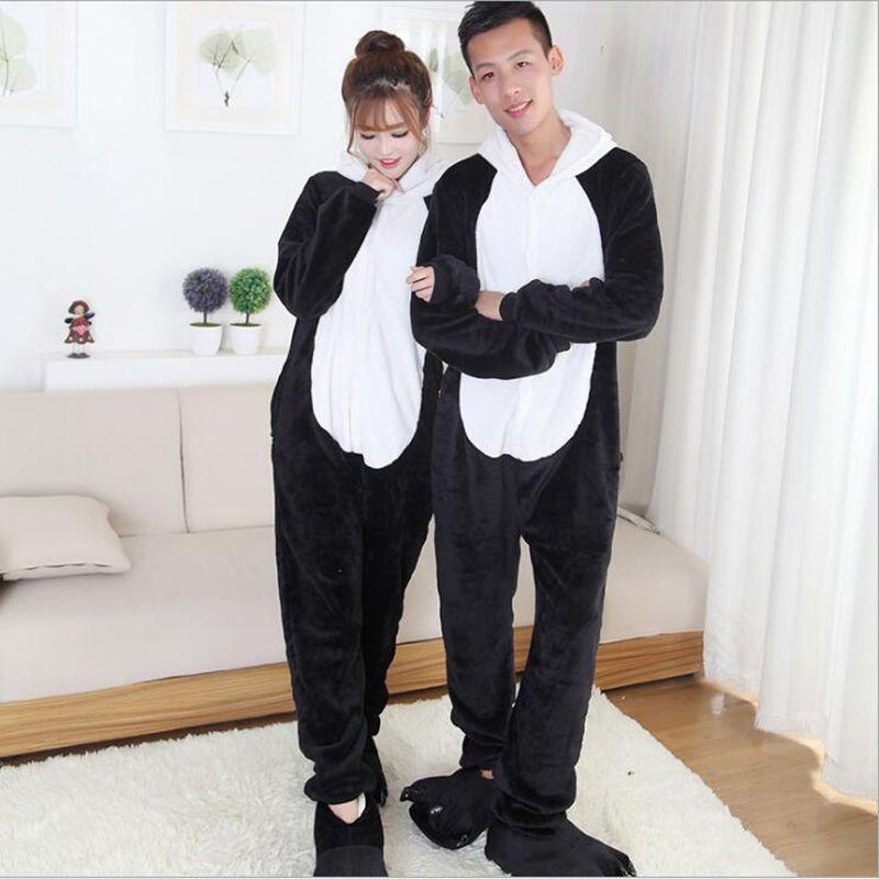 2017 Yeni Moda erkek Yenilik Tam Kollu Karakter Erkekler Bir Onesie Kapşonlu Pijama Setleri Cosplay Hayvan Hayvan Pijama Tek Parça