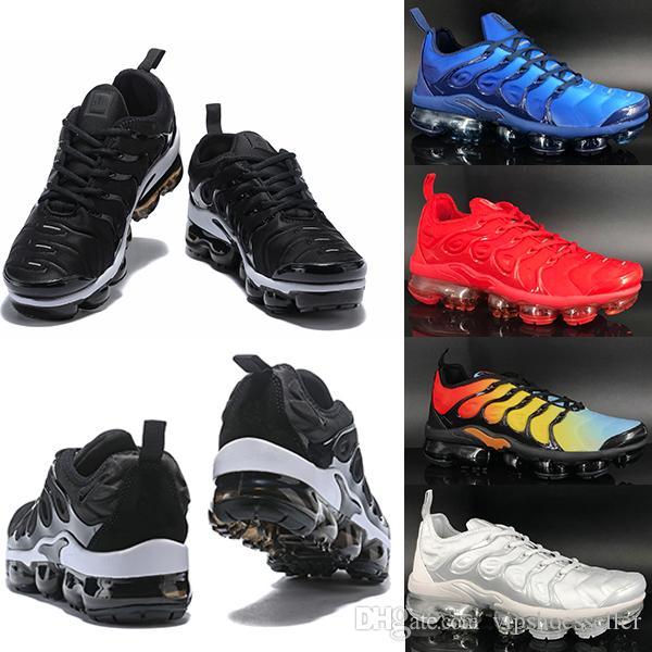 Nike Air VaporMax TN Plus Running shoes Yeni TN 2 S Erkekler Siyah Beyaz Kırmızı Erkek Nefes Sneakers Kadın Eğitmenler Ayakkabı kutusu olmadan 36-45
