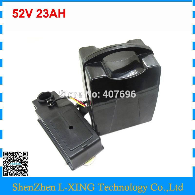 Free customs duty 2000W 52V Ebike battery 51.8V 23AH scooter battery 52V 14S Lithium battery use NCR18650PF 2900MAH cell