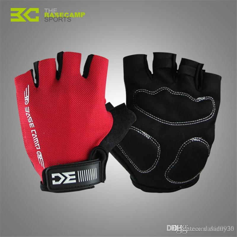 Basecamp 2017 Summer Cycling Gloves Man Half Finger Bike Sports Gloves Sponge Pad Breathable Racing MTB Bicycle Cycle Gloves