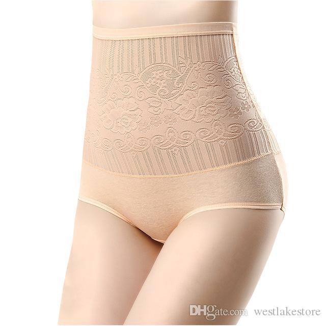 Sexy Frauen Control Panties Nahtlose Hohe Taille Abnehmen Mädchen Briefs Body Shaperwear Unterwäsche Sexy Spitze Damen Unterwäsche