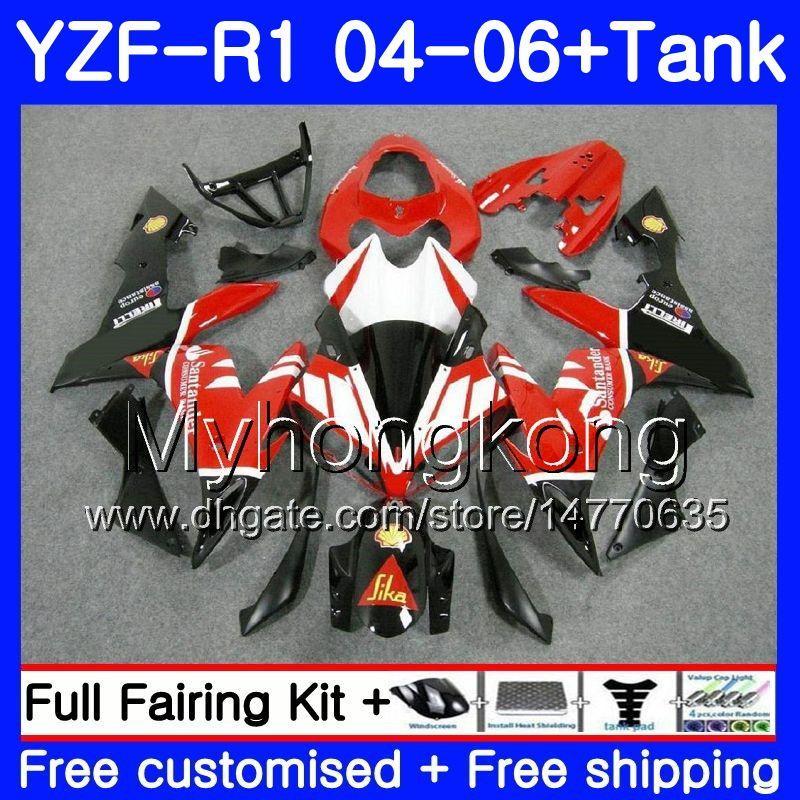 Corps + réservoir pour YAMAHA YZF 1000 YZF R 1 YZF-R1 Santander rouge chaud 2004 2005 2006 232HM.38 YZF1000 YZF R1 04 06 YZF-1000 YZFR1 04 05 06 Carénage