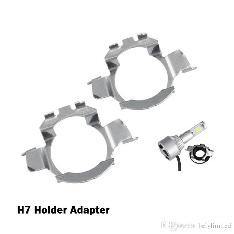 2 Adet H7 Araba BMW için Led Far Adaptörleri Baz Ampul Tutucular E60 E61 VW için MK6 NISSAN QASHQAI için LED lamba Audi A3