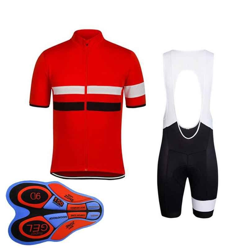 Rapha team Cycling Short Sleeves jersey (bib) shorts sets new bike Outdoor Sports Clothing men's MTB bicycle ropa ciclismo 92815J