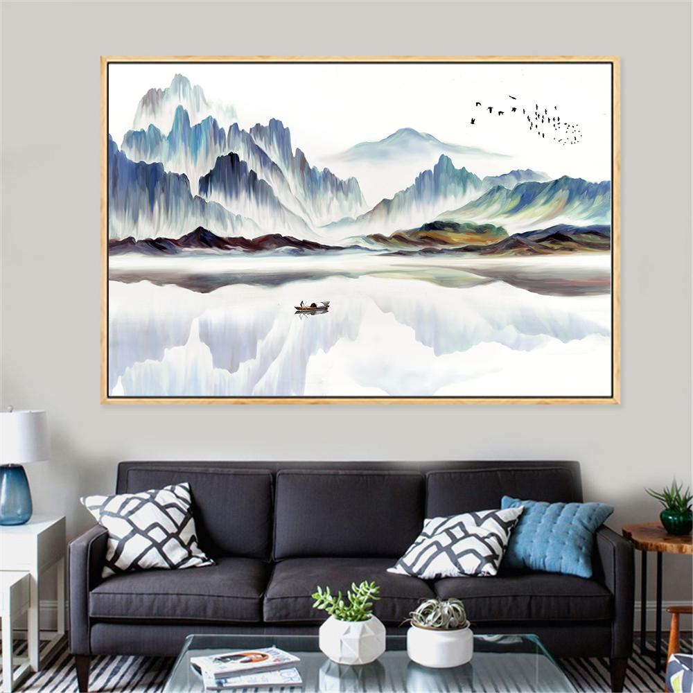 2019 Abstract Painting Large Size Minimalist Mountain Peaks Landscape Canvas Painting Nordic Posters And Prints Wall Art Chinese From Aliceer 34 49