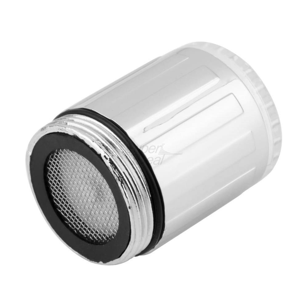 Casa Torneira de Água Luz LED 7 Cores Mudando Glow Shower Stream Torneira universal adaptador externo Esquerda parafuso Brilho Cozinha Banheiro
