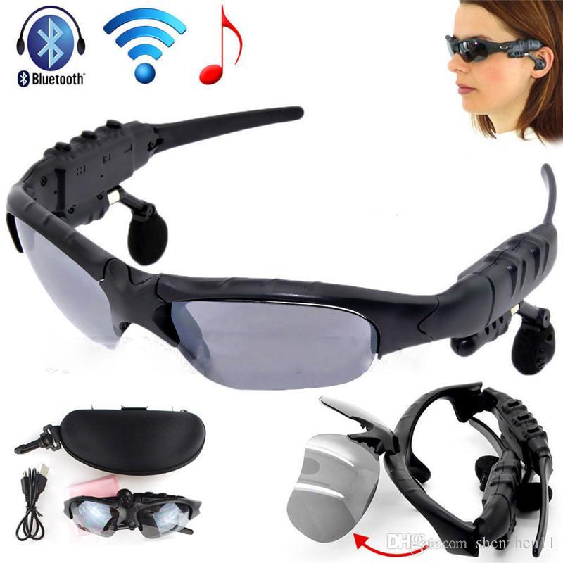 en venta accc8 b380f El Mejor Móvil Gafas De Sol Auriculares Bluetooth Deportes Inalámbricos  Auriculares Estéreo Manos Libres Auriculares Mp3 Reproductor De Música DHL  ...