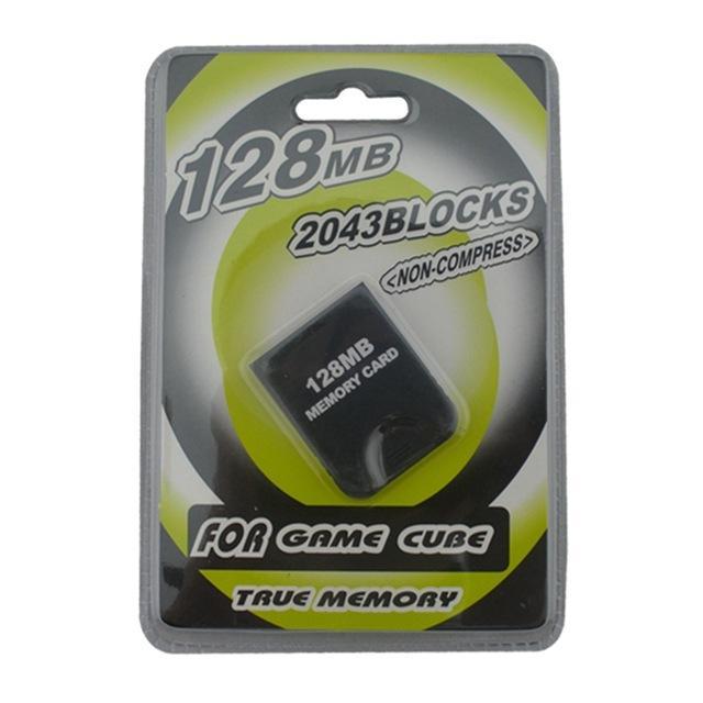 جودة عالية 128 ميجابايت لحفظ بطاقة ذاكرة التخزين لنينتندو ل GameCube NGC 128MB Console