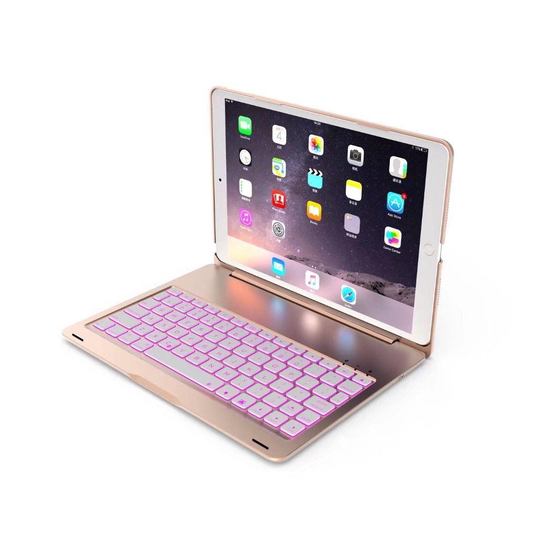 """لباد الموالية 10.5 """"لوحة المفاتيح الخلفية بلوتوث المحمولة اللوحي حالة تغطية حامل لوحة المفاتيح"""
