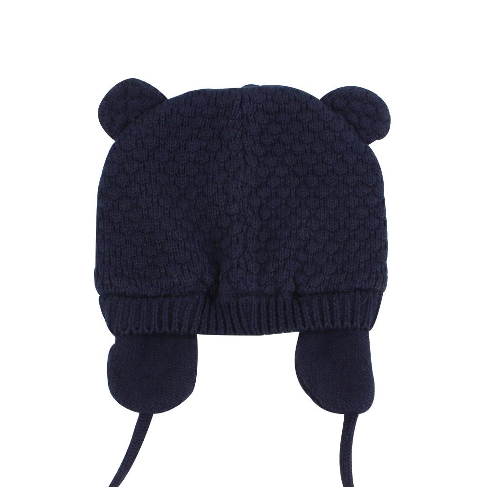 Bear Ears Cute Baby Hat Soft Cotton Newborn Baby Beanie Double Layer Warm Winter Hat For Baby Girls Boys Knitted Kids Hats New (11)