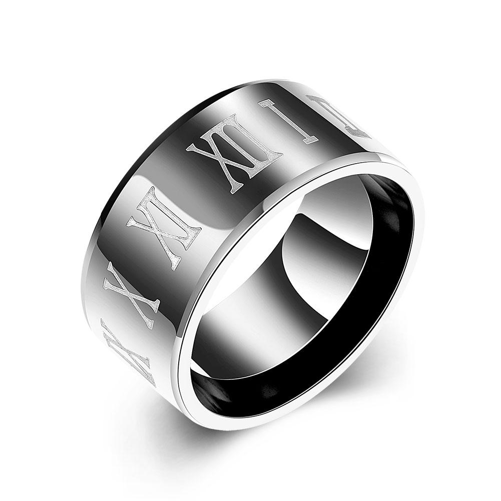 New fashion European and American stainless steel ring mens ring titanium steel diamond ring