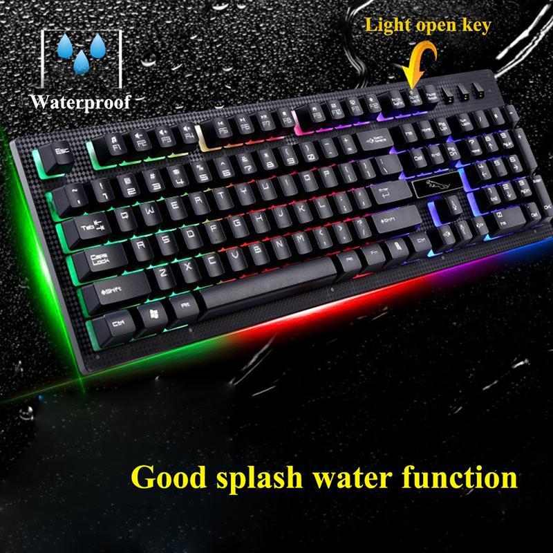 G20 Rétroéclairage LED Pro Gaming Keyboard USB Filaire Gamer Powered Clavier Avec 2000 DPI Souris Pour Jeu D'ordinateur LOL Light Gaming