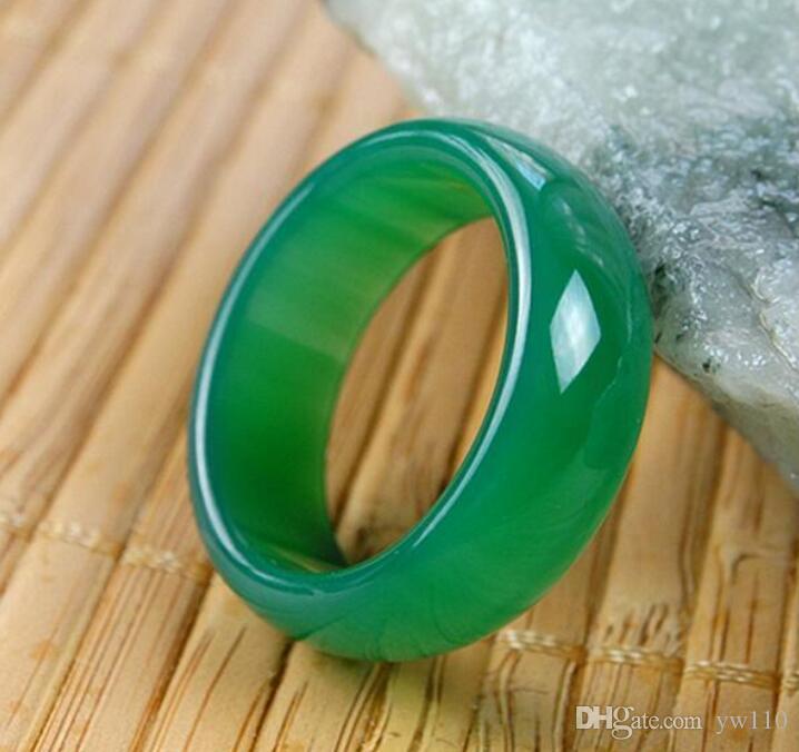 Bague en onyx vert naturel authentique, bague en calcédoine verte, tirez sur le doigt