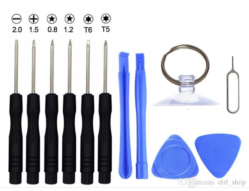 11 em 1 chave de fenda Kits de ferramentas de telefone celular Repair Tool Set Para iPhone Samsung HTC Sony Motorola LG livre DHL