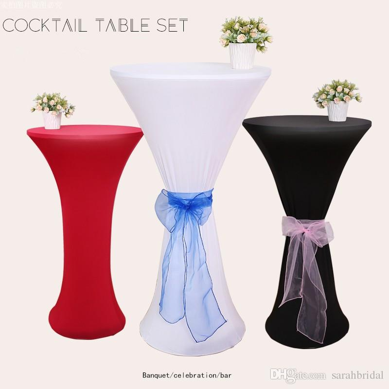 2019 color Elastic Table Cloth custom made bar Decorations cocktail cloth Free Shipping restaurant table cheap wedding party decoration